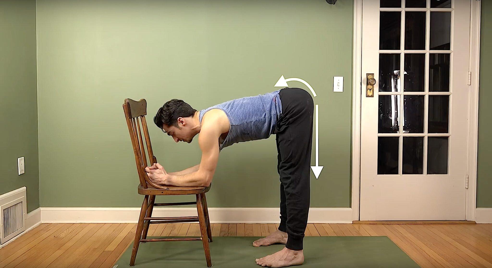 chair yoga hamstring stretch