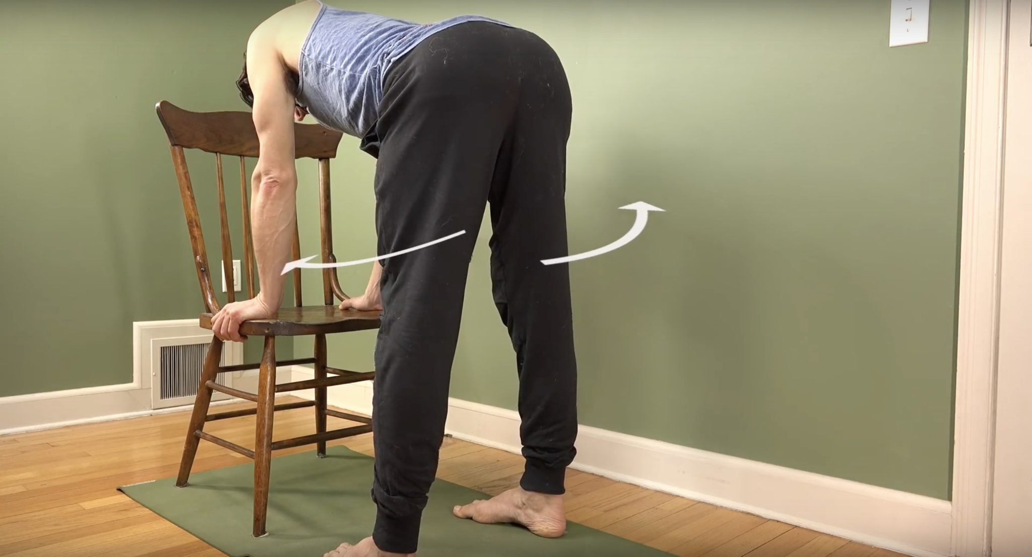 hamstring stretch with internal rotation of hips