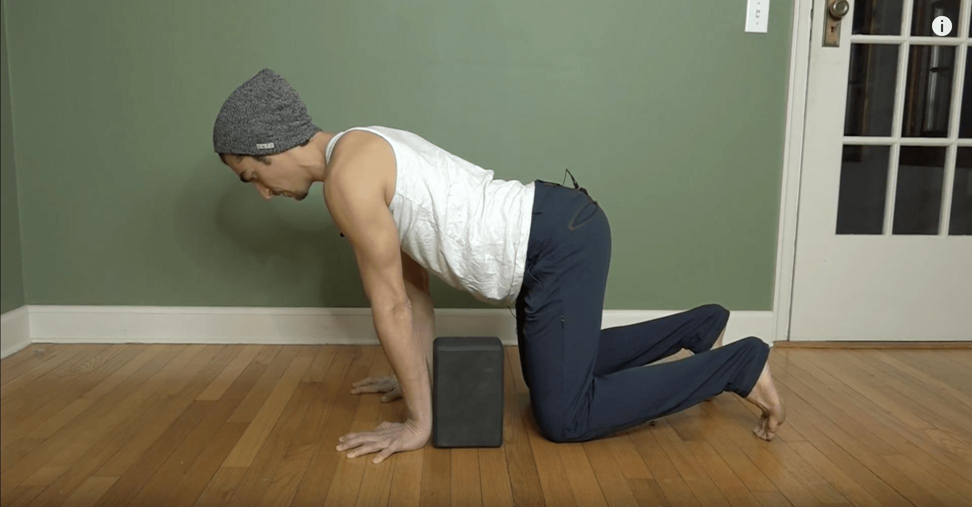 yoga pose all 4's wrist strengthener