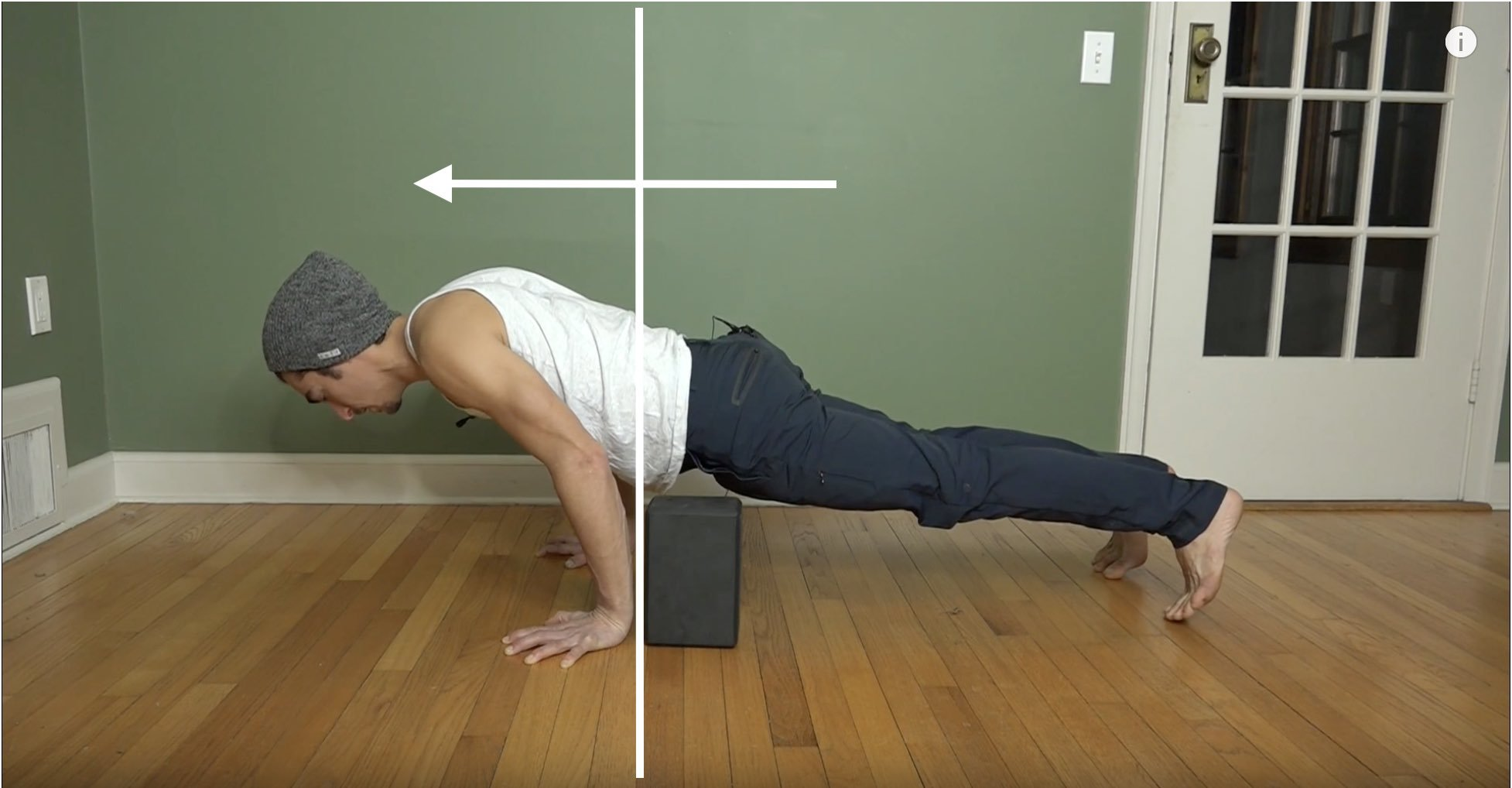 chaturanga with block for wrist strength