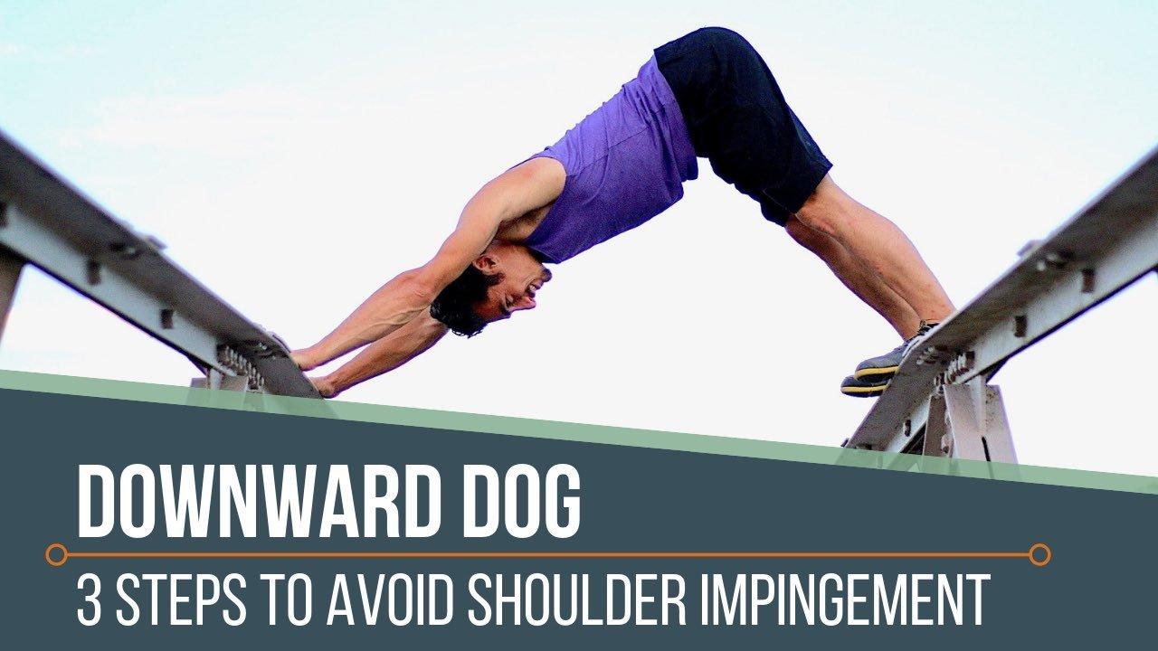 Down Dog Avoid Shoulder Impingement   THEYOGIMATT