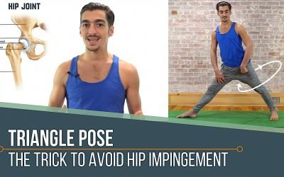 Triangle Pose: Trick to Avoid Hip Impingement