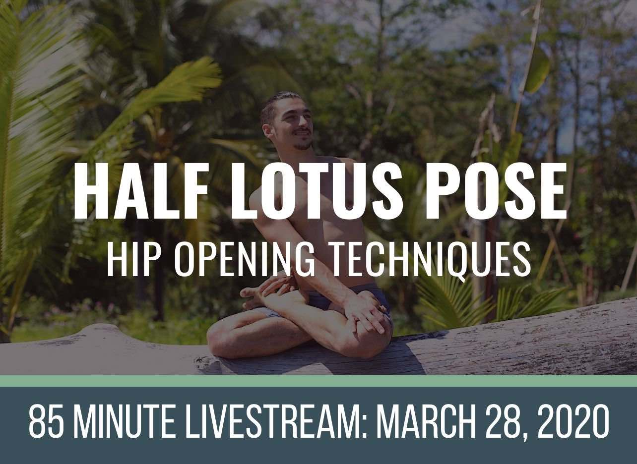 yoga hip stretch class for half lotus pose