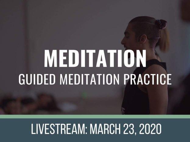MEDITATE 3-23-2020 course image