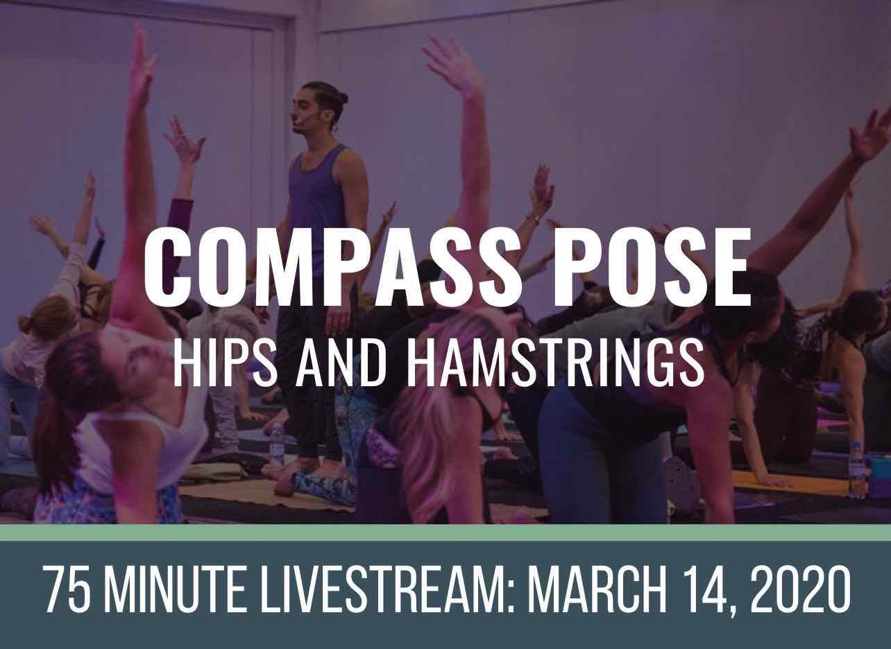 online yoga class compass pose hamstring flexibility
