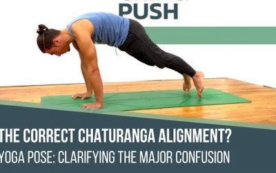 Chaturanga yoga pose alignment and anatomy