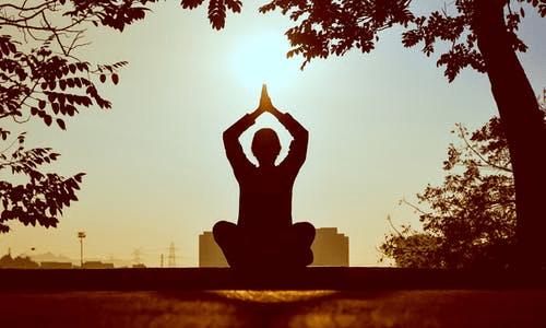 A yogi mediating